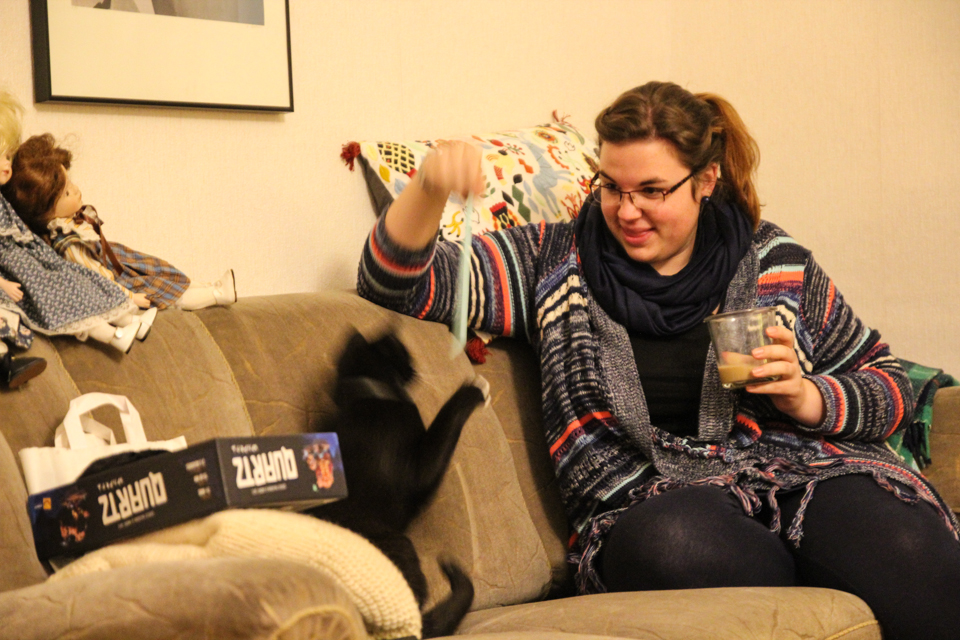 Spielen mit der Katze