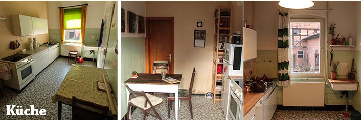Unsere Küche im Urzustand und jetzt