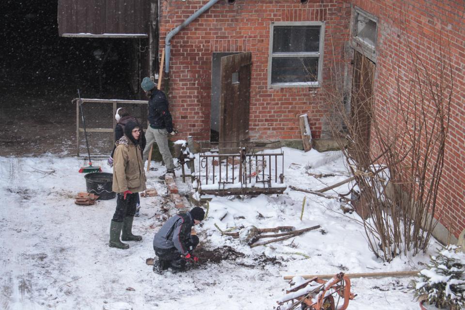 Arbeiten im Schnee